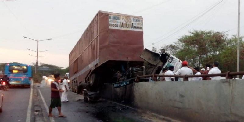 up accident