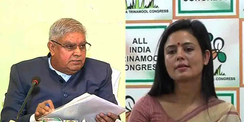 TMC MP Mahua Moitra targets Governor Dhankhar