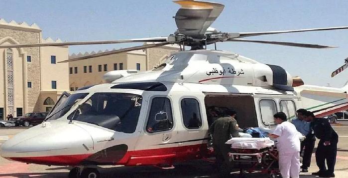air ambulance accidetn in abu dhabi four deaths